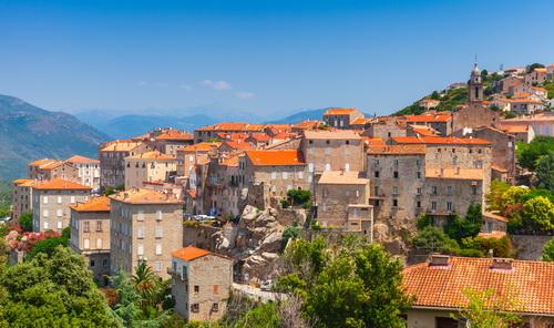 stadje op Corsica
